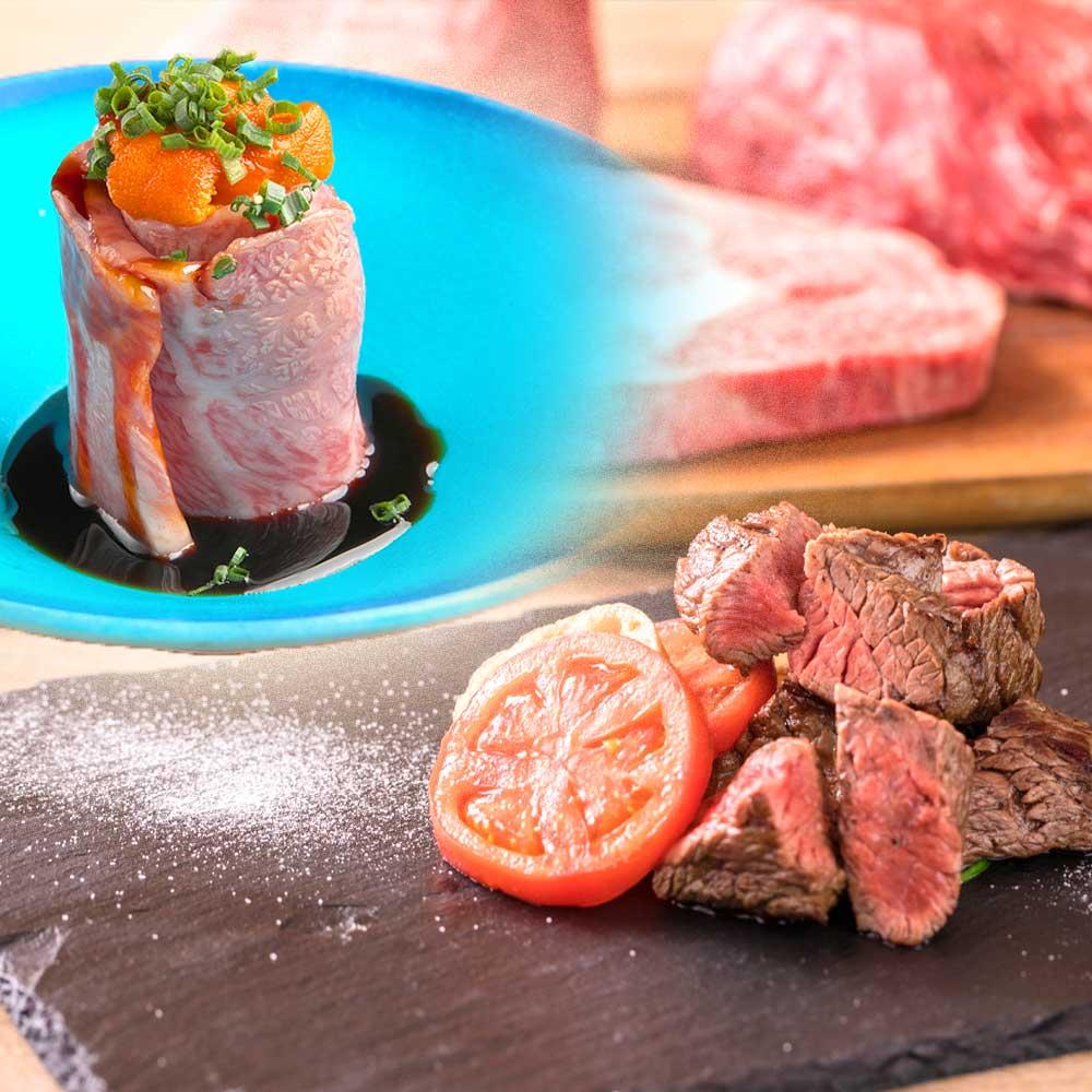 【9月限定】名前の通り 肉る'sコース*牛赤身部位・肉×ウニ*2.5時間プレミアム飲み放題 8品6000円